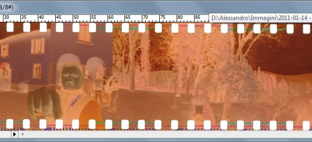 Come scansionare i negativi fotografici: bilanciamento del bianco