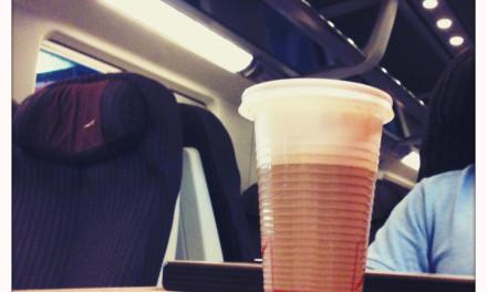 Cappuccino viaggio. Tiepido.