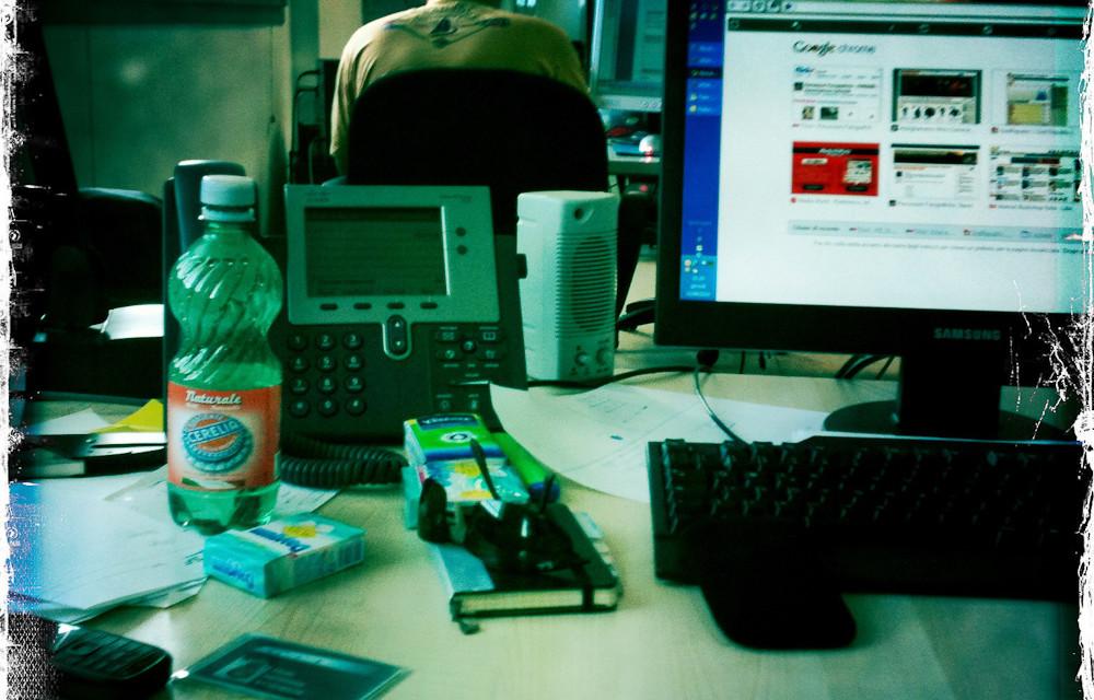 Talefono, PC, lavoro, telefono, PC