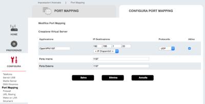OpenVPN Port Forwarding