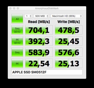APPLE SSD SM0512F