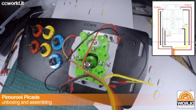 Si collegano i fili al controller (arancio UP, giallo DOWN, etc.)