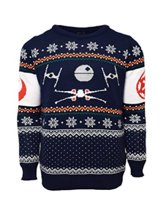 X-Wing Vs. Tie Fighter Official Star Wars Christmas Jumper / Sweater