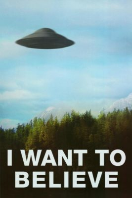 X-files I want to believe TV manifesto stampa