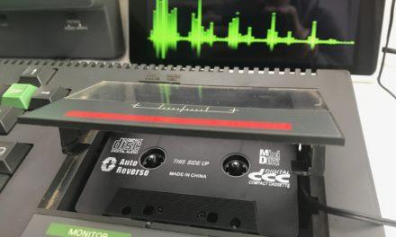 Usiamo l'immagine di una cassetta audio su un vero Amstrad CPC